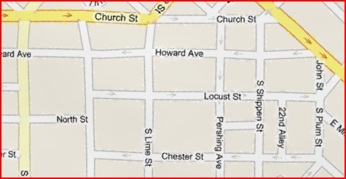 map-of-church-and-chester-streets