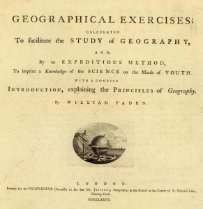 Geographical Exercises, William Faden 1777