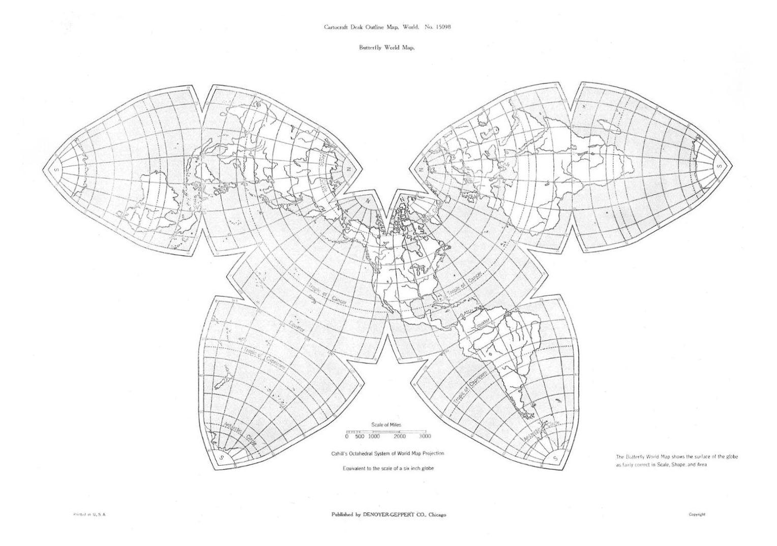 B.J.S.Cahill's Medium-size Desk Maps