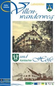 Titelseite des Folders zum Laßnitzhöher Villenwanderweg und Kainbacher Höfe