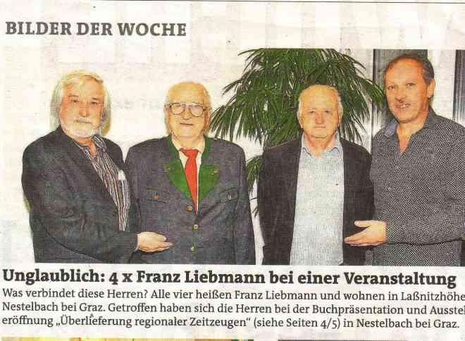 Treffen der Familie Liebmann bei der Eröffnung der Ausstellung
