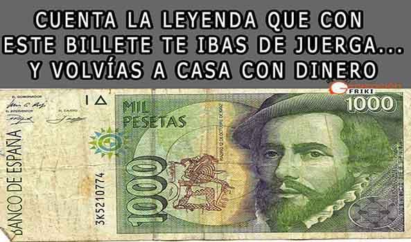 915) 01-04-15 billete-1000-pesetas-1992-Humor