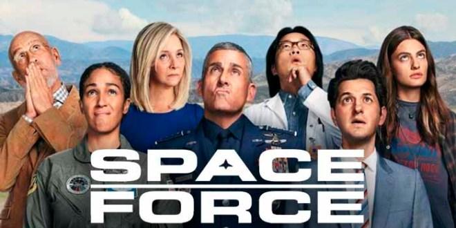 SPACE FORCE: no llega a sátira, no llega a comedia, cumple como entretenimiento.