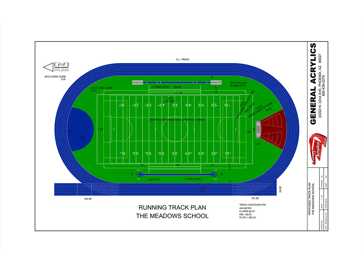 track and field diagram blue sea wiring arizona running construction general acrylics