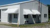 Brookside Window Awning with Angled Side Panels