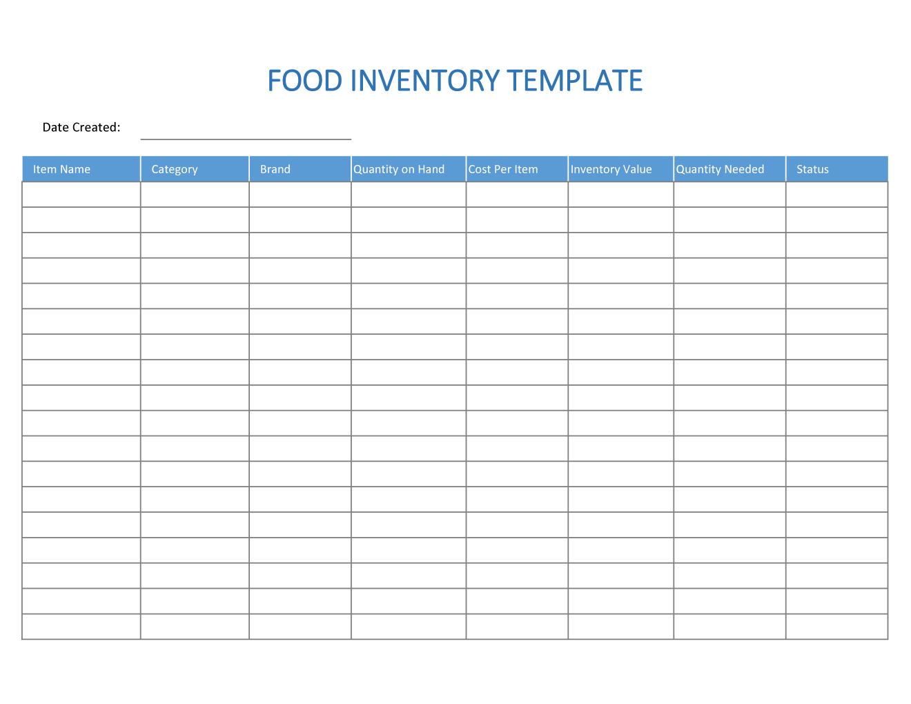 15/10/2019· spreadsheet123 also has an excel inventory tracking template for the bar industry. Excel Food Inventory Template