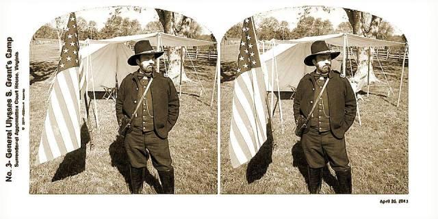 Appomattox 2013 3-D in B and W