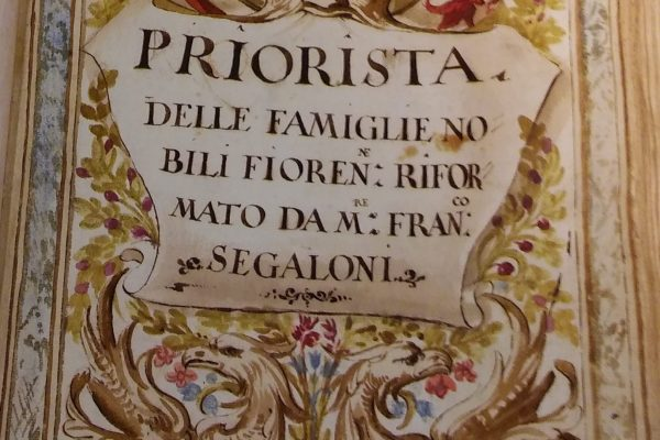 Frontispiece of the seventeenth-century manuscript of Il Priorista Fiorentino