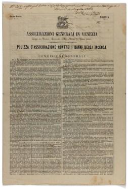 Polizza incendi fratelli Mella (Pavia, 1862) / ph. Duccio Zennaro