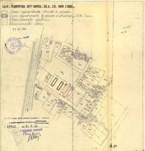 Planimetria area di costruzione Piano INA-Casa