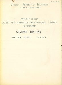 Dossier concerning the sale of a room of INA-Casa Management (1960)
