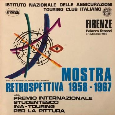 Catalogo della mostra retrospettiva 1958-1967 in Firenze, palazzo Strozzi (1967)