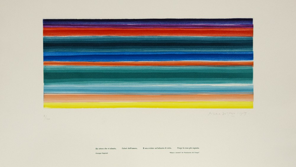 Piero Dorazio, aquatint in 10 colors (1979)