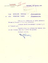 Firma autografa di Napoleone Giovanni Fiumi (1947)