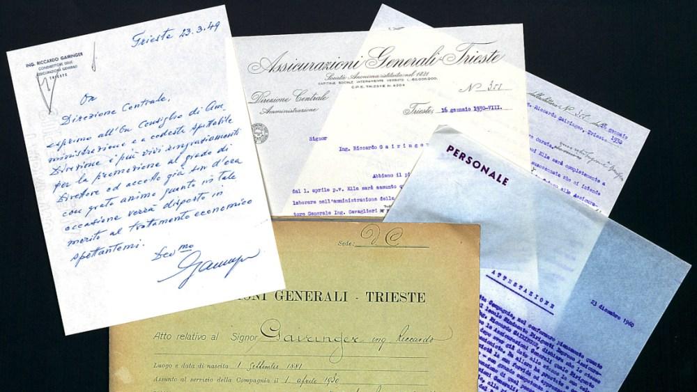 Riccardo Gairinger's personnel file (1934-1960)