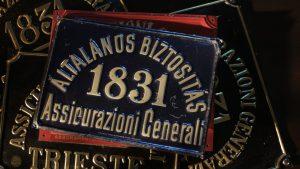 Generali fire plate in Hungarian (1880s-1910s)