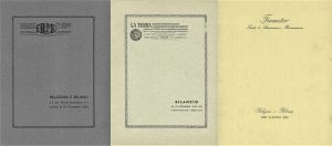 Fiume, La Terra and Fiumeter Financial Statements (1925-1957)