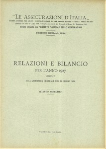 1927 Le Assicurazioni d'Italia Financial Statements (1928)