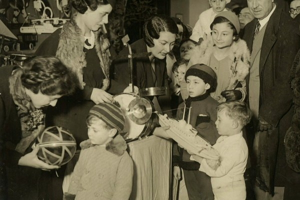 Celebrations of the Fscist Befana at the headquarters of INA recreational club (Rome, 1930s)