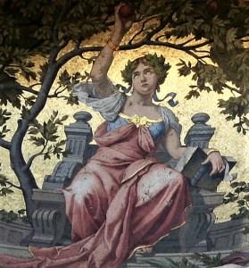 Luca Beltrami, Previdenza, particolare del mosaico [1900]
