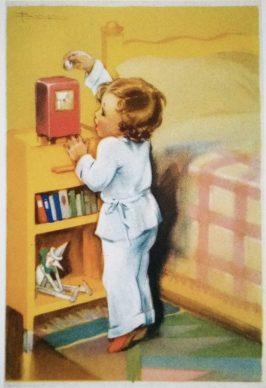 Adolfo Busi, INA postcard (1940s)