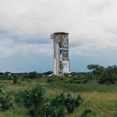 The ESA space center in Kourou, launch pad (May 1991)
