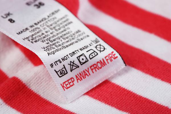 clothing labels and the