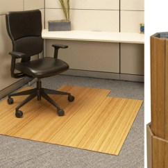 Bamboo Chair Mat Mesh Mid Back Ergonomic In Blue And Black Colour By Emperor Roll Up 220 00 For Office Desk Area Anji Mountain Rug Co