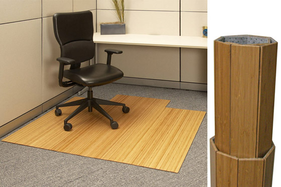 desk chair mats recliner lift chairs costco roll up bamboo mat 220 00 for office area by anji mountain rug co