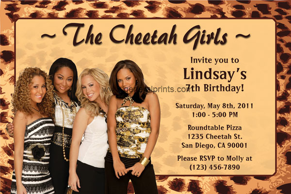 Personalized Cheetah Girls Invitations Birthday