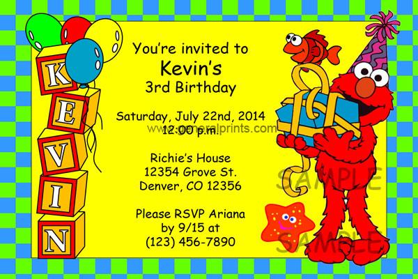sesame street invitations general prints