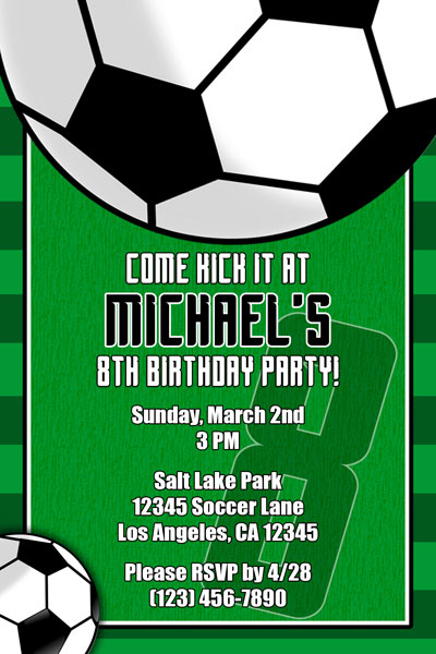 Soccer Invitations  General Prints