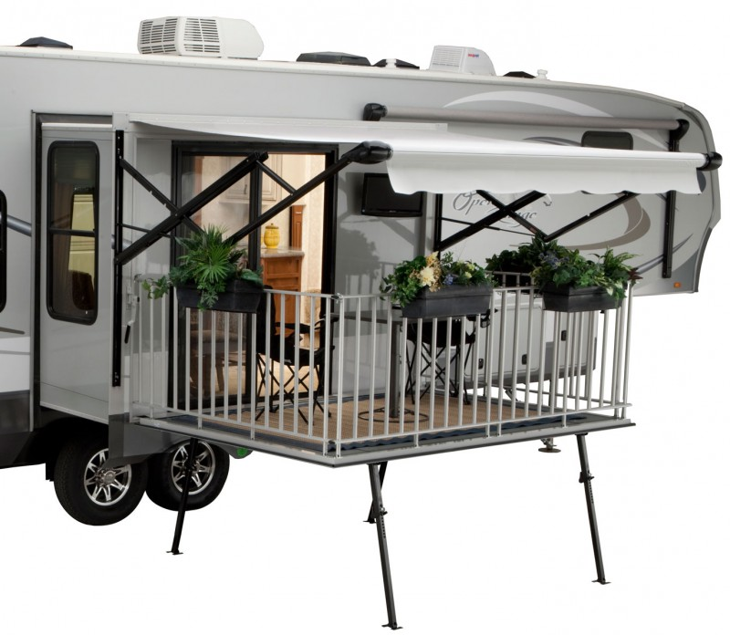fifth wheel campers with bunkhouse and outdoor kitchen hotels kitchens 10 amazing rvs entertaining outside roamer