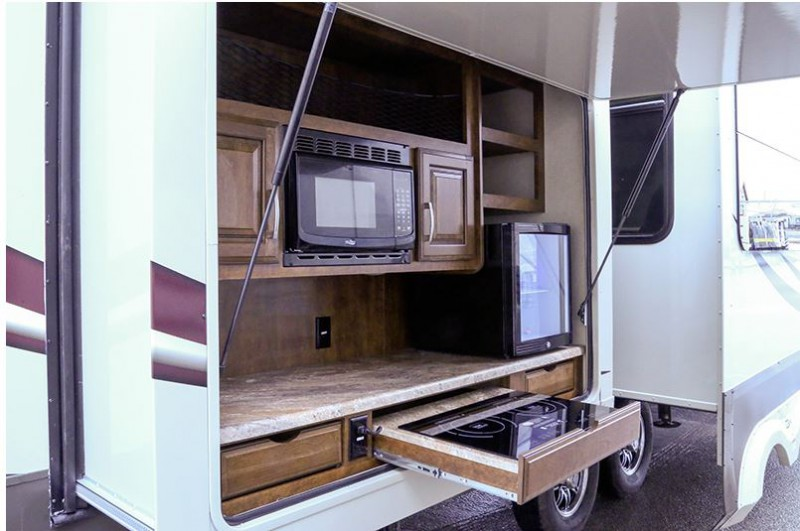 fifth wheel campers with bunkhouse and outdoor kitchen island leaf 10 amazing rvs entertaining kitchens solitude