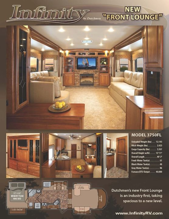 fifth wheel with front living room paint design for walls dutchmen rv infinity 3750fl general center contact the best price on this by company