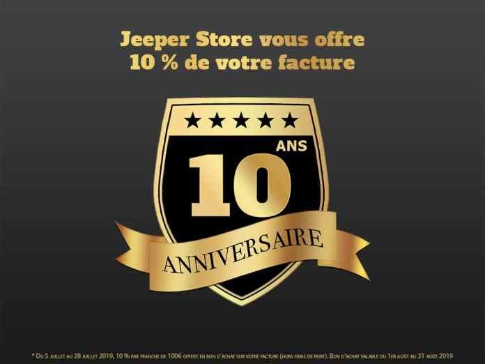 Jeeper Store fête ses 10 ans