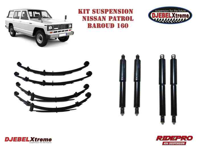 kit suspension RIDEPRO en promotion pour le Nissan Patrol Baroud 160