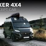 Peugeot transforme son utilitaire Boxer en un camping-car baroudeur Peugeot dévoile au salon du véhicule de loisirs du Bourget (93) qui aura lieu du 28 septembre au 6 octobre 2019, le Boxer 4x4 concept. Le grand fourgon de la gamme utilitaire Peugeot se transforme en un camping-car baroudeur. C'est le spécialiste français Dangel qui fournit la transmission intégrale au Peugeot Boxer. La garde au sol est majorée de 30 mm à l'avant et de 50 mm à l'arrière, l'engin est chaussé de pneumatiques spécifiques pour la pratique du tout-terrain, fournis par le manufacturier BF Goodrich . Un accastillage façon SUV habille la carrosserie (bas de caisse, bas de bouclier et arches de roues rapportées). Pour marquer les esprits, une peinture spéciale avec une déco graphique, raccord avec celle du canoë sur le toit, finalise l'ensemble. Sur l'avant du pavillon, huit feux à LED font partie intégrante de la signature lumineuse. A bord, le Peugeot Boxer 4x4 concept a été conçu pour accueillir trois passagers. L'espace d'une surface de 10 m2 comprend une salle de bain, un coin repas et deux couchettes. C'est le Peugeot Boxer en configuration L3 (5,99 m de long) H2 (2,52 m de haut) qui sert de base à ce camping-car.