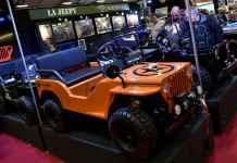 La Jeepy qui s'inspire de la Jeep Willys est une vraie voiture tout terrain l'échelle 1/2 pour enfants