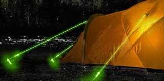 Des cordes phosphorescentes, qui brillent dans le noir.