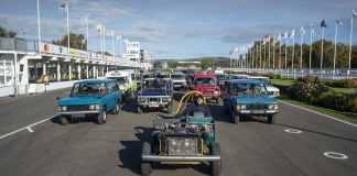 Range Rover Happy birthday Défilé à Goodwood et exposition à Solihull
