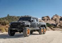 Le constructeur américain Rezvani lance son nouveau monstre dénommé Hercules. Un 6 × 6 dont le prix de base est à la hauteur du V8 suralimenté de plus de 1300 ch !