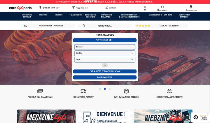 Euro4x4parts fait peau neuve Le nouveau site est opérationnel