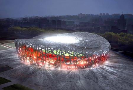 Bird's Nest - Beijing Olympics stadium (Xinhua)