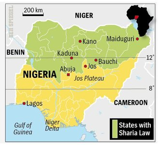 Nigeria - Muslims in the north, and Christians in the south <font size=-2>(Source: Spiegel)</font>