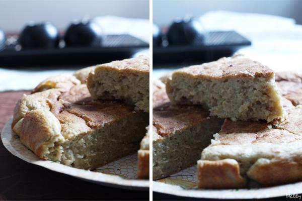 gâteau avec flocon d'avoine