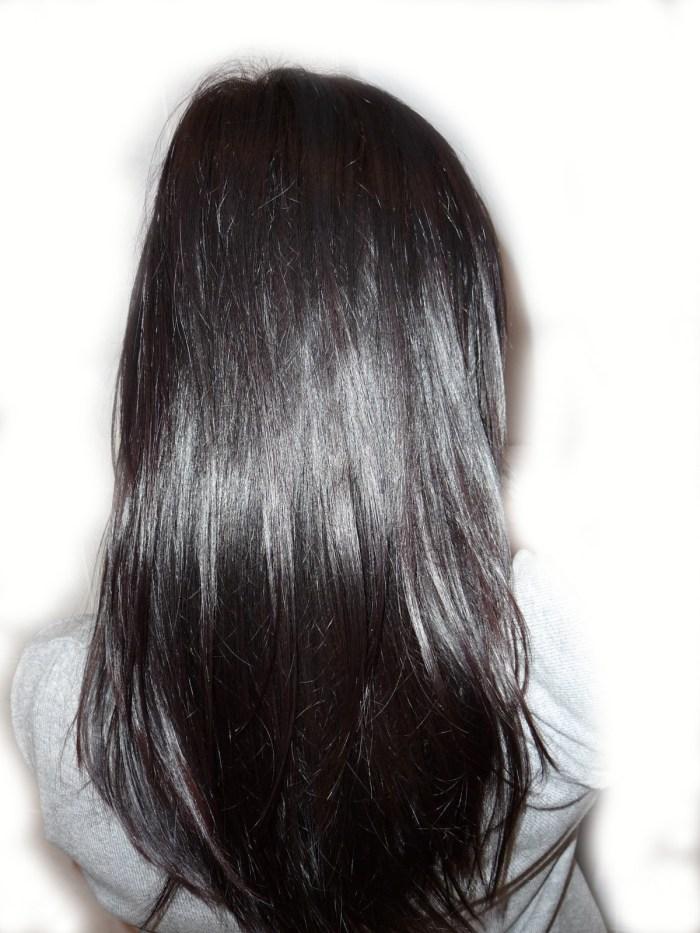 henné acajou sur cheveux brun