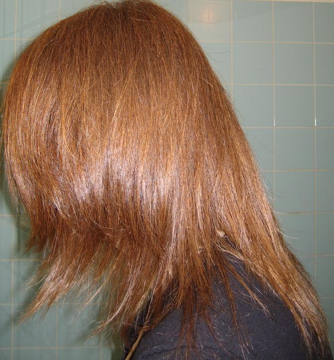 henné auburn sur cheveux brun