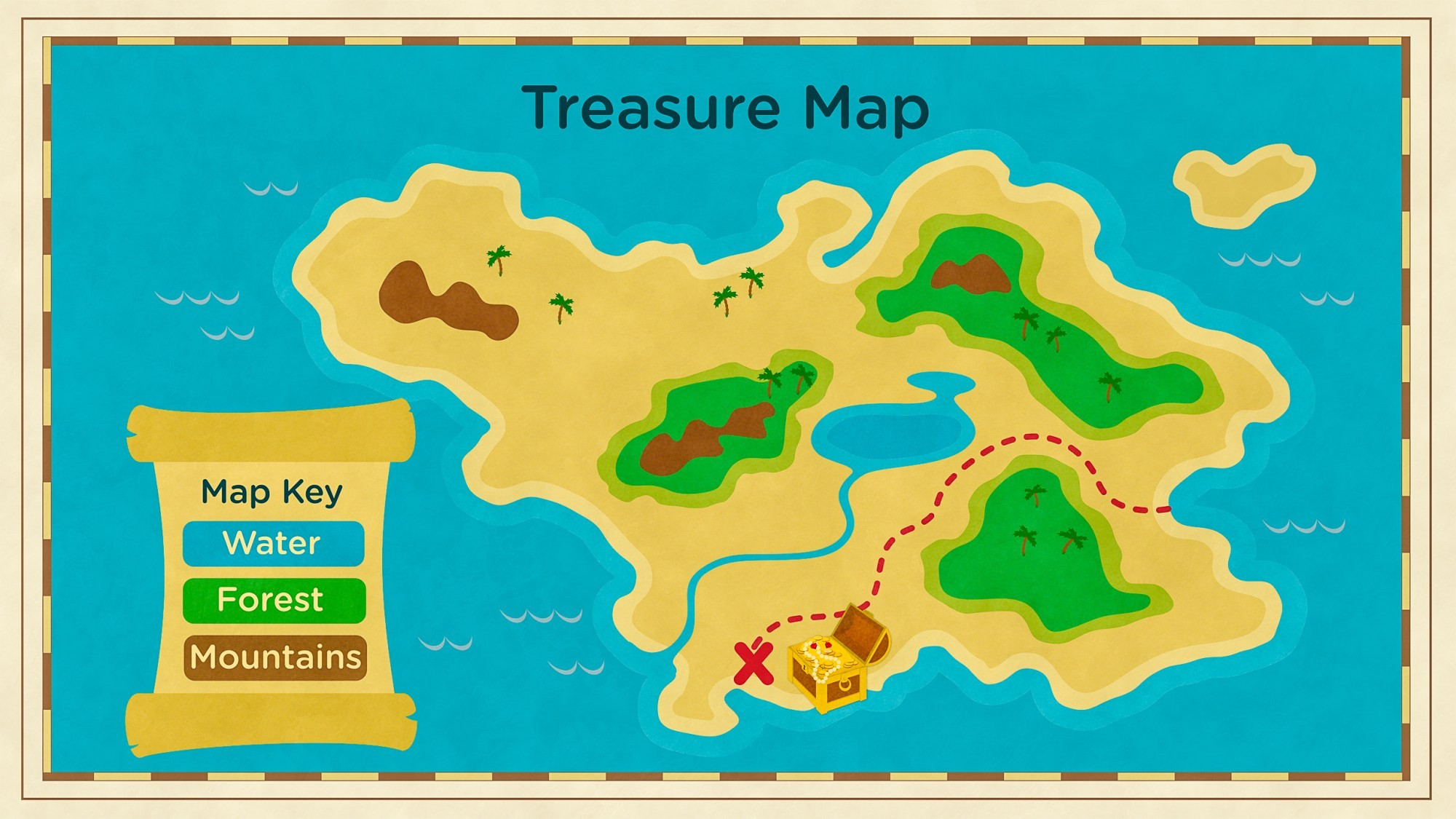 hight resolution of Read About Maps \u0026 Landforms   Science for Kids   Grades K-2 PDF