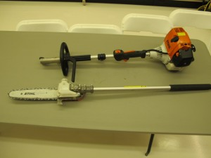 lawn & garden rental 09-1012 Stihl pole saw pruner combo